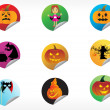 Stock Vector: Abstract halloween sticker series set14