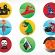 abstracte halloween sticker serie set10 — Stockvector