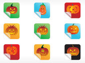Abstract halloween sticker series set3 — Stock Vector