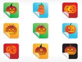 Abstract halloween sticker series set3 — Stock Vector