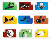 Abstract halloween sticker series set4 — Stock Vector