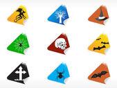 Abstract halloween sticker series set2 — Stock Vector