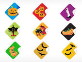 Abstract halloween sticker series set6 — Stock Vector