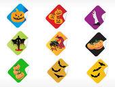Abstract halloween sticker series set6 — Stock Vector