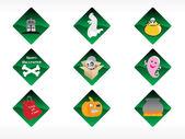 Abstract halloween sticker series set33 — Stock Vector
