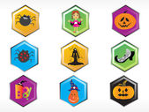 Abstract halloween sticker series set8 — Stock Vector