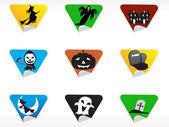 Abstract halloween sticker series set9 — Stock Vector