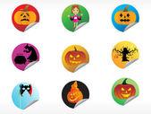 Abstract halloween sticker series set14 — Stock Vector