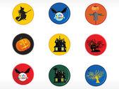 Abstract halloween sticker series set21 — Stock Vector