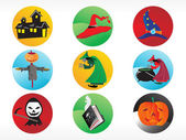 Abstract halloween sticker series set10 — Stock Vector