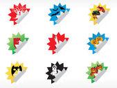 Abstract halloween sticker series set27 — Stock Vector