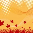 Royalty-Free Stock Vector Image: Autumnal background