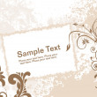 Grungy background with floral and banner — Stock Vector #2313772