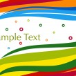 Colorful artistic stripes background - Image vectorielle
