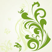 Abstract background with green artwork — Stok Vektör