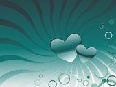 Bakgrund med romantiska hjärtan — Stockvektor