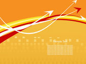 Abstract vector arrow background — 图库矢量图片