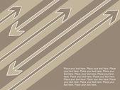 Arrowhead background with sample text — Stock Vector