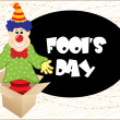 Artistic fools day background - Stock Vector