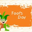 Vector illustration for fools day — Stock Vector