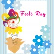 Vector illustration for fools day - Stockvectorbeeld