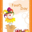 Illustration fools day gretting card — Stock Vector