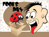 Illustration for fools day — Stock Vector