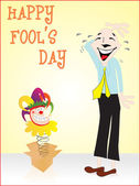 Happy fools day gretting card — Stock Vector