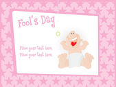 Fools day gretting card — Stock Vector
