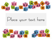 Baby bloky písmena a čísla vektor — Stock vektor