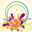 Background with floral elements - Imagen vectorial