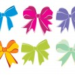 Background with six vector bow — Stock Vector #2360450