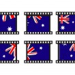 Royalty-Free Stock Vector Image: Set of stamp with autralia flag