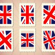 UK Flag Stamp — Stock Vector