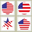 Vector usa flag stamp — Stock Vector