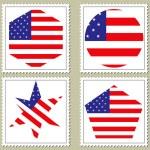 Vector usa flag stamp — Stock Vector #2362003