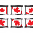 Illustration of canada flag stamp — Stock Vector