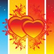 Background with decorated heart — Stock Vector