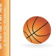 Basketball isolated on white — Stock Vector