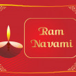 Royalty-Free Stock Vector Image: Red panel lines card for ramnavami