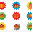 Stock Vector: Abstract halloween sticker series set7
