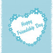 Beautiful friendship day greeting - Stock Vector