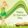 Vector illustration for patrick day — Stock Vector