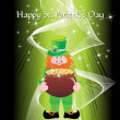 Royalty-Free Stock Vector Image: Beautiful background with leprechaun