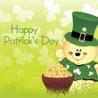 Background for happy st patrick day — Stock Vector #2365274