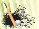 Baseball and bat, vector illustration — Stock Vector