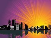 Black city background — Stock Vector