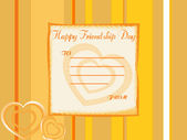 Beautiful friendship day greeting — Stock Vector