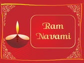 Red panel lines card for ramnavami — Stock Vector
