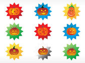 Abstract halloween sticker series set7 — Stock Vector